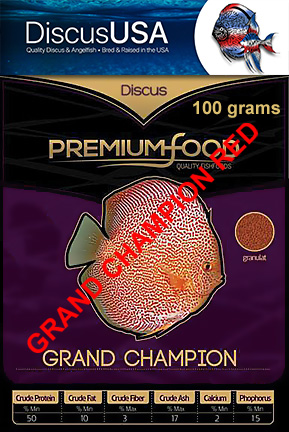 Grand Champion RED Discus Granules 100grams